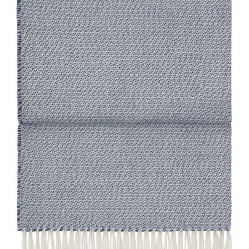 Шерстяной плед с кистями 6183 BREEZE delphatlanticwhite. 100 шерсть беби альпака перу. Производитель ТМ Elvang, Дания