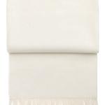 Шерстяной плед с кистями6004 LUXURY off-white. 100 шерсть беби альпака перу. Производитель ТМ Elvang, Дания