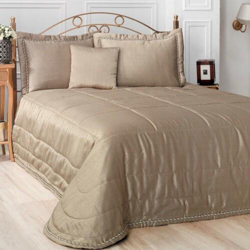 Покрывало 2-спальное жаккард стеганое «ESTE» (золотистый). Производство «Karna» («Карна»), Турция