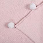 Детский плед хлопок «С помпонами розовый» 100х120см. Состав: 100% хлопок. Производитель: ТМ «Lorena Canals» , Испания (страна изготовитель Индия, поставщик компания «Инфания»)