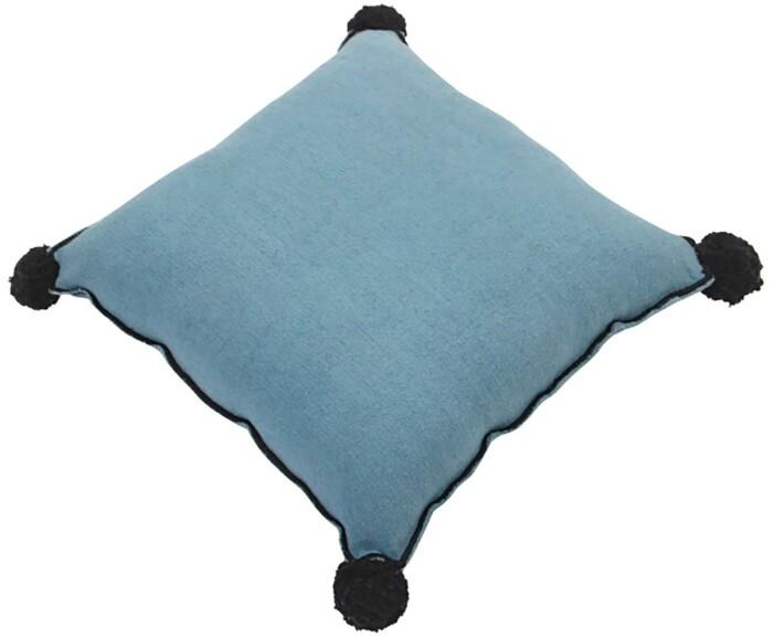 Подушка детская декоративная  Квадратная бирюзовая. 100 хлопок. Lorena Canals, Испания
