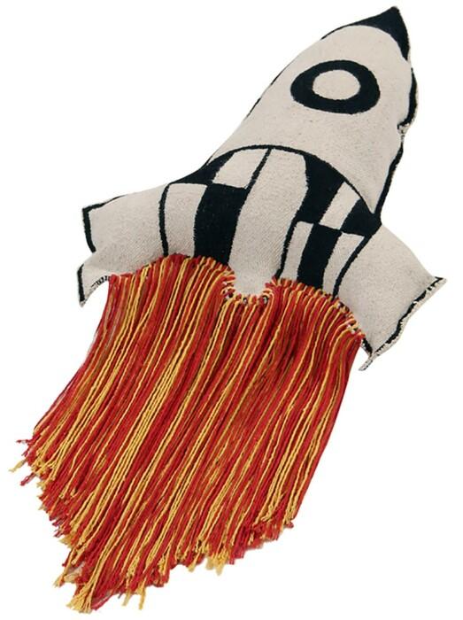 Подушка детская декоративная  Ракета. 100 хлопок. Lorena Canals, Испания