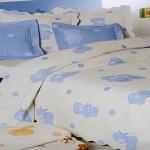 Покрывало детское жаккардовое «ANTONIO SALGADO Ursinhos blue» (голубой). Состав 80% хлопок, 20% полиэстер. Производство «ANTONIO SALGADO»,Португалия