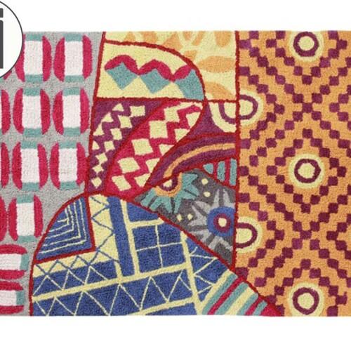 Детский стираемый ковер «Индийский Indian Bag» цветной. Состав 100% хлопок. Производитель ТМ «Lorena Canals» , Испания