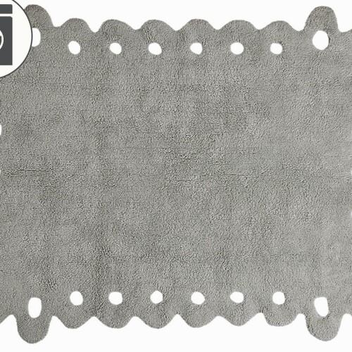 Детский стираемый ковер «Кружево Lace» серый. Состав 100% хлопок. Производитель ТМ «Lorena Canals» , Испания