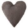 Подушка детская декоративная Сердце темно-серая. 100 хлопок. Lorena Canals, Испания