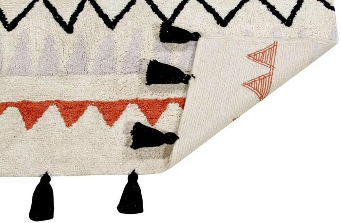 Детский стираемый ковер «Ацтекский Azteca Natura» терракотовый. Состав 100% хлопок.  Производитель ТМ «Lorena Canals» , Испания