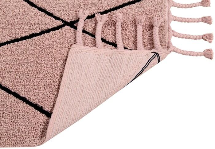 Детский стираемый ковер «Bereber Берберский» розовый. Состав 100% хлопок.  Производитель ТМ «Lorena Canals» , Испания