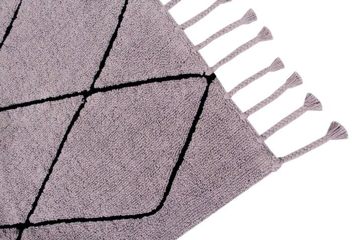 Детский стираемый ковер «Bereber Берберский лесная роза» лиловый. Состав 100% хлопок.  Производитель ТМ «Lorena Canals» , Испания
