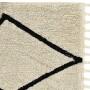 Детский стираемый ковер «Bereber Берберский черно-белый» бежевый. Состав 100% хлопок. Производитель ТМ «Lorena Canals» , Испания