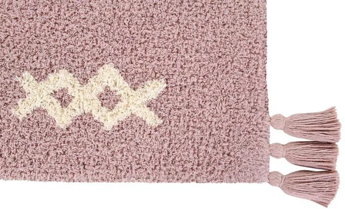 Детский стираемый ковер «Noah» розовый. Состав 100% хлопок.  Производитель ТМ «Lorena Canals» , Испания