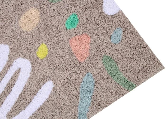 Детский стираемый ковер «Веселая вечеринка» мультиколор. Состав 100% хлопок.  Производитель ТМ «Lorena Canals» , Испания