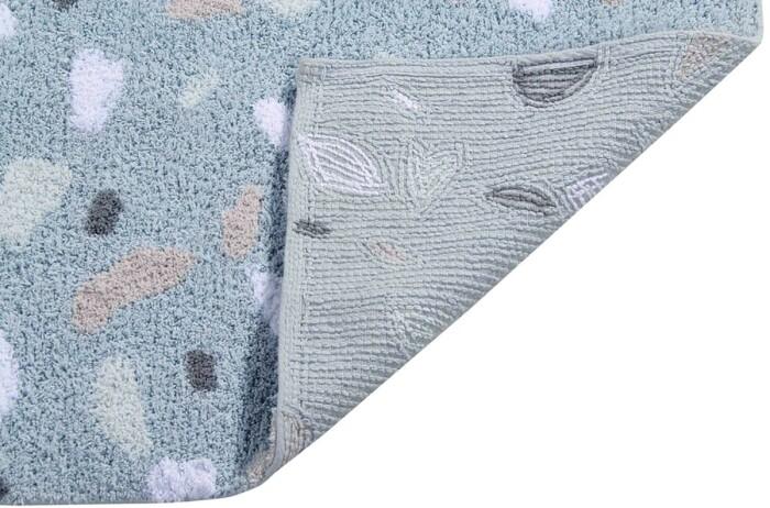 Детский стираемый ковер «Aquamarine Аквамарин» голубой. Состав 100% хлопок.  Производитель ТМ «Lorena Canals» , Испания