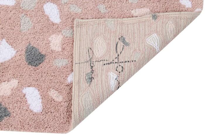 Детский стираемый ковер «Rose Quartz» Розовый кварц. Состав 100% хлопок.  Производитель ТМ «Lorena Canals» , Испания