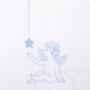 ANGELS белыйголубой Детское постельное белье 100% хлопок. Детское постельное белье Luxberry (Люксберри)