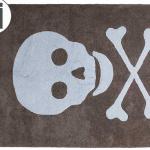 Детский стираемый ковер «Череп» серо-голубой. Состав 100% хлопок. Производитель ТМ «Lorena Canals» , Испания