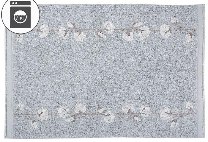 Детский стираемый ковер «Cotton Bolls»жемчужно-серый. Состав 100% хлопок.  Производитель ТМ «Lorena Canals» , Испания