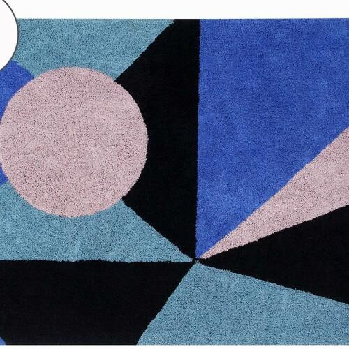 Детский стираемый ковер «Geometric Frame» цветной. Состав 100% хлопок. Производитель ТМ «Lorena Canals» , Испания