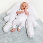 Детский стираемый ковер «Мягкие крылышки» голубой-белый. Состав 100% хлопок. Производитель ТМ «Lorena Canals» , Испания