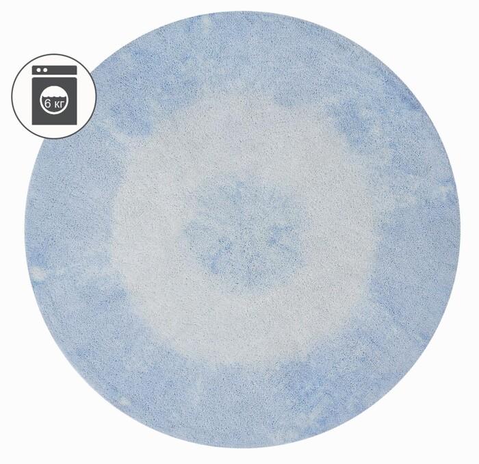 Детский стираемый ковер «Tie-Dye» нежно-голубой. Состав 100% хлопок.  Производитель ТМ «Lorena Canals» , Испания