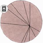 Детский стираемый ковер «Trace Лучи винтажный» розовый. Состав 100% хлопок. Производитель ТМ «Lorena Canals» , Испания