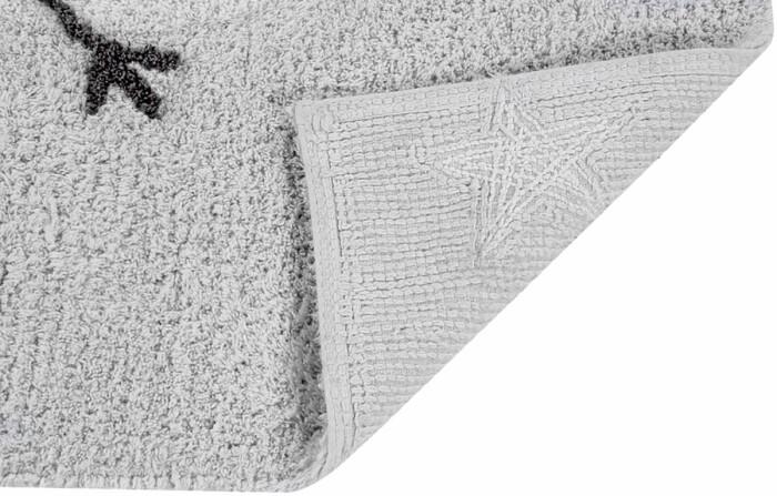 Детский стираемый ковер «Mr. Wonderful - Счастливая луна» серый-белый. Состав 100% хлопок.  Производитель ТМ «Lorena Canals» , Испания