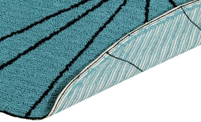 Детский стираемый ковер «Trace Лучи» бирюзовый. Состав 100% хлопок.  Производитель ТМ «Lorena Canals» , Испания
