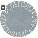 Детский стираемый ковер «Алфавит Round ABC» голубой. Состав 100% хлопок. Производитель ТМ «Lorena Canals» , Испания
