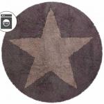 Детский стираемый ковер «Пентаграмма» коричневая двусторонний. Состав 100% хлопок. Производитель ТМ «Lorena Canals» , Испания