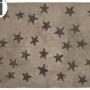 Детский стираемый ковер «Звезды» темно-бежевый серый. Состав 100% хлопок. Производитель ТМ «Lorena Canals» , Испания