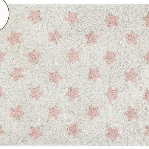 Детский стираемый ковер «Звезды» винтажный нюдовый. Состав 100% хлопок. Производитель ТМ «Lorena Canals» , Испания