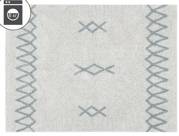 Детский стираемый ковер «sАтлас винтажный» голубой. Состав 100% хлопок.  Производитель ТМ «Lorena Canals» , Испания