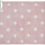 Детский стираемый ковер в горошек «Stars» розовый c белым. Состав 100% хлопок. Производитель ТМ «Lorena Canals» , Испания
