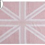 Детский стираемый ковер «Флаг Великобритании» розовый. Состав 100% хлопок. Производитель ТМ «Lorena Canals» , Испания