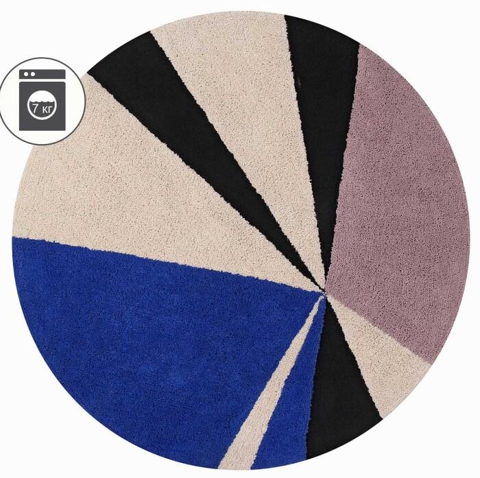 Детский стираемый ковер «Geometric Klein». Состав 100% хлопок.  Производитель ТМ «Lorena Canals» , Испания