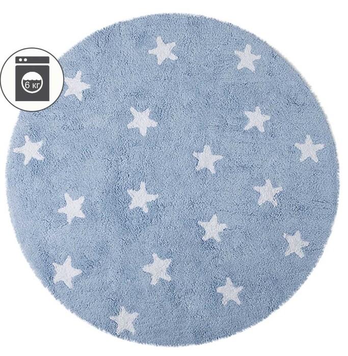 Детский стираемый ковер «Голубое небо» голубой. Состав 100% хлопок.  Производитель ТМ «Lorena Canals» , Испания