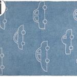 Детский стираемый ковер «Машинки» синие. Состав 100% хлопок. Производитель ТМ «Lorena Canals» , Испания