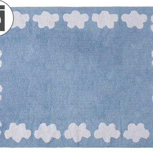 Детский стираемый ковер «Облако» голубой. Состав 100% хлопок. Производитель ТМ «Lorena Canals» , Испания