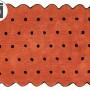 Детский стираемый ковер «Печенье Biscuit» терракотовый. Состав 100% хлопок. Производитель ТМ «Lorena Canals» , Испания