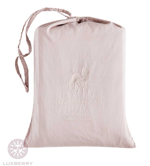 Постельное белье софт сатин «SOFT SATEEN» (пудровый). 100% хлопок. «Bovi» («Бови»), Португалия-4
