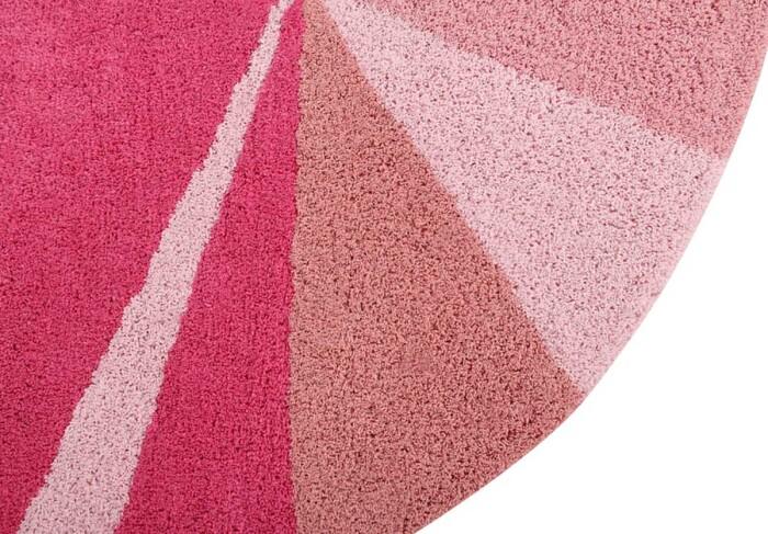 Детский стираемый ковер «Geometric Pink». Состав 100% хлопок.  Производитель ТМ «Lorena Canals» , Испания