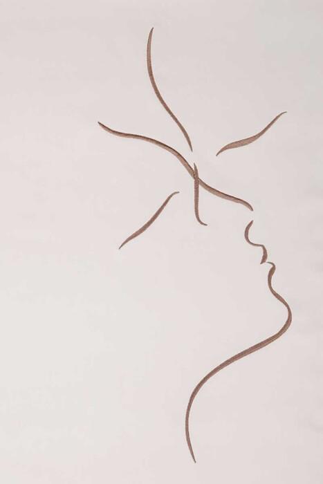 Постельное белье сатин «KISS» (бежевыйшоколадный). 100% хлопок. «Luxberry» («Люксберри»), Португалия