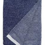 6202 Raindrops Royal blue. Плед 100% шерсть беби альпака. ТМ «Elvang», Дания