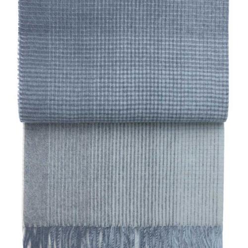 7502 HORIZON MIDNIGHT BLUE. Плед шерсть альпака, овечья шерсть. ТМ Elvang, Дания