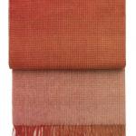 7505 HORIZON pompeian redterracotta. Плед шерсть альпака, овечья шерсть. ТМ Elvang, Дания
