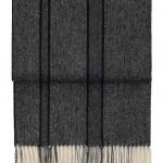 7600 RIVER dark greyblack. Плед шерсть альпака, овечья шерсть. ТМ Elvang, Дания