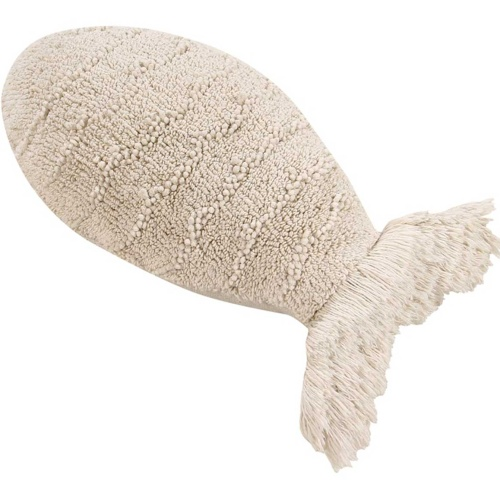 Подушка детская декоративная Рыбка бежевая. 100 хлопок. Lorena Canals, Испания