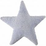 Подушка детская декоративная Star голубая. 100 хлопок. Lorena Canals, Испания
