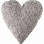 Подушка детская декоративная Heart светло-серая. 100 хлопок. Lorena Canals, ИспаниПодушка детская декоративная Heart светло-серая. 100 хлопок. Lorena Canals, Испания