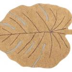 Ковер лист монстеры медовый Детский стираемый ковер. Состав 100% хлопок. Производитель ТМ «Lorena Canals», Испания